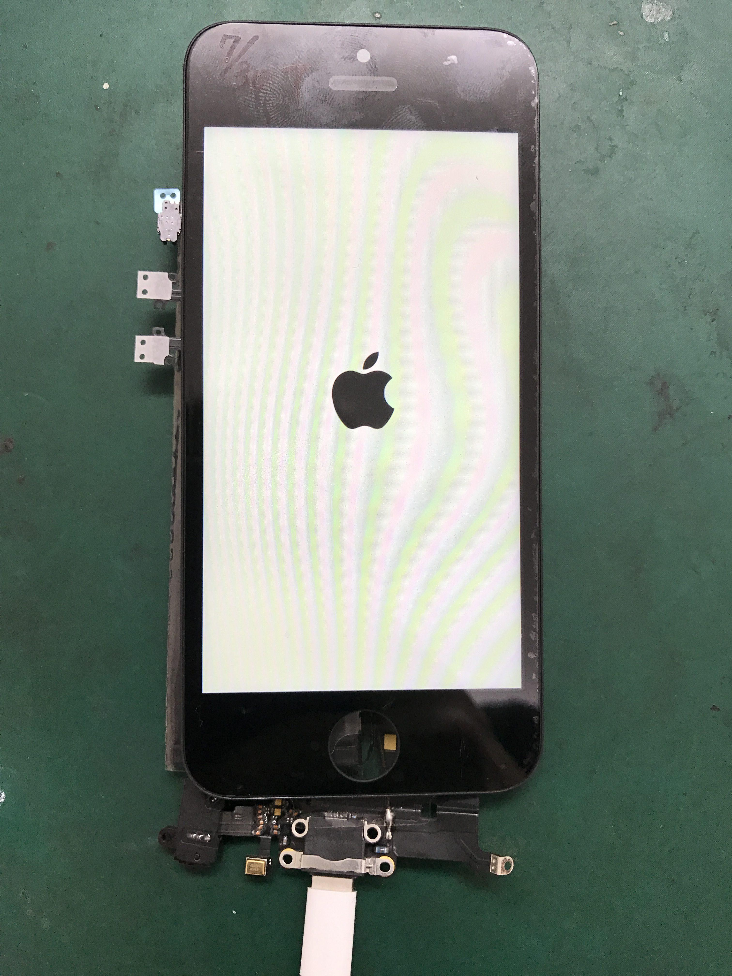 水没から復旧したiPhone