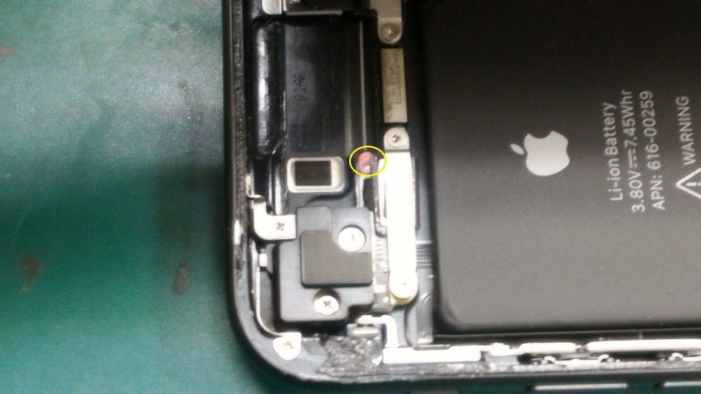 iPhone 7水没跡