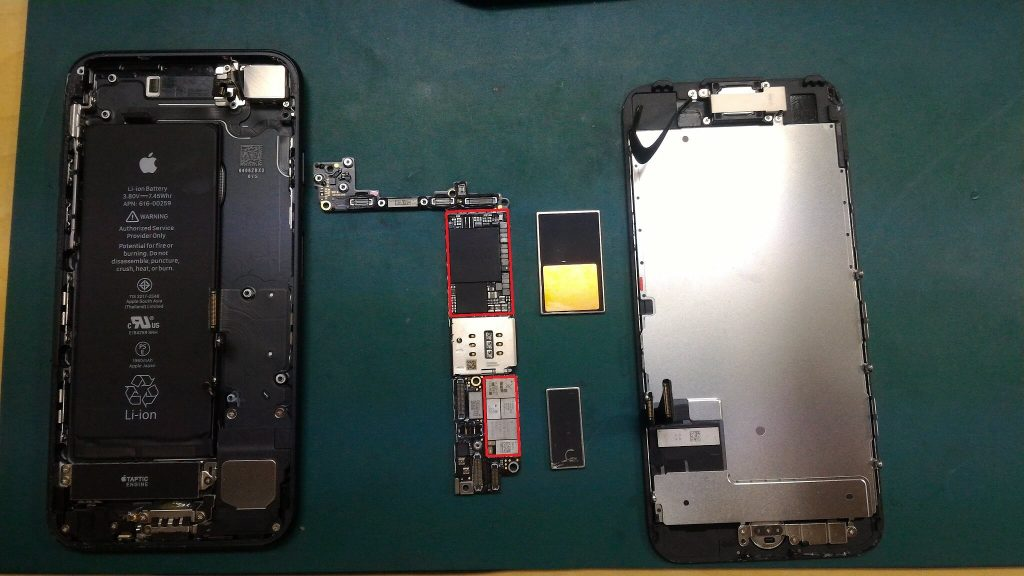 iPhone7水没修理画像
