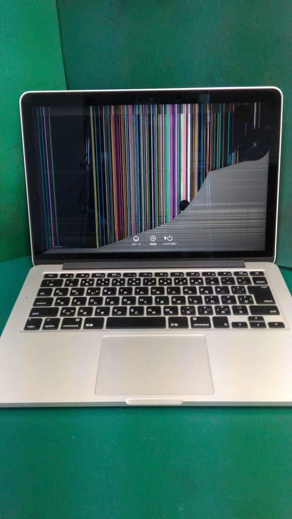 MacBook Pro Retina13.3inch画面割れ②