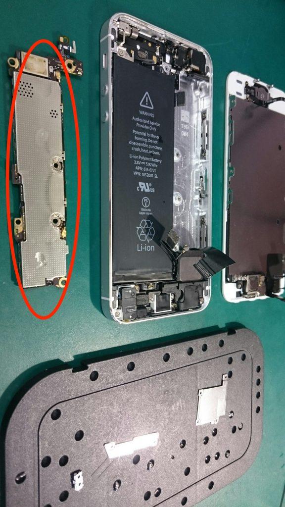 iPhone5s 水没1