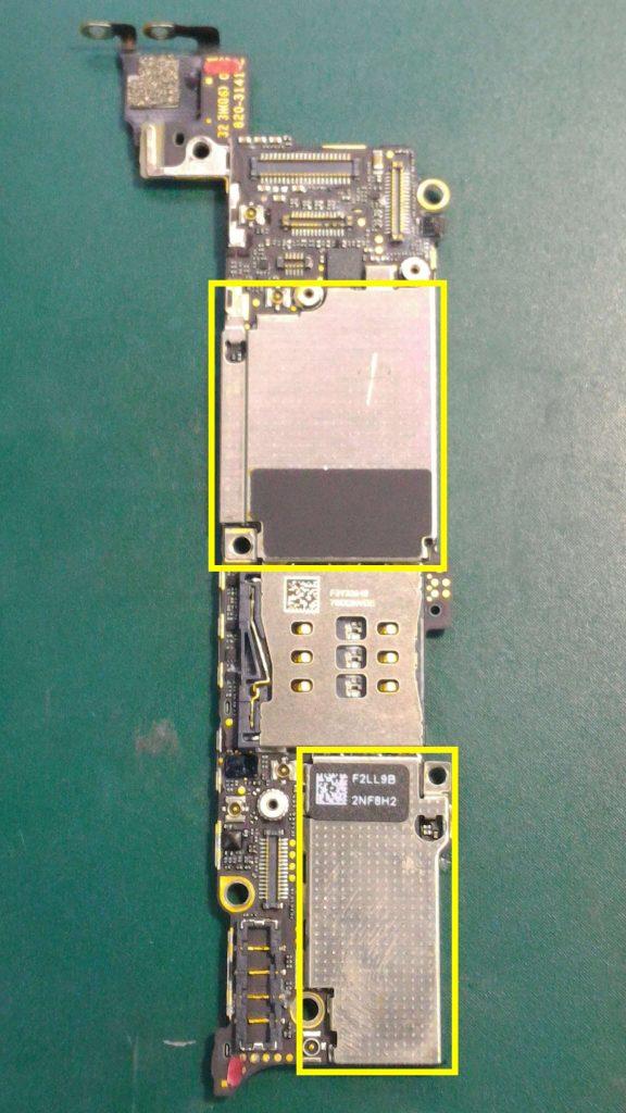 iPhone5水没修理③