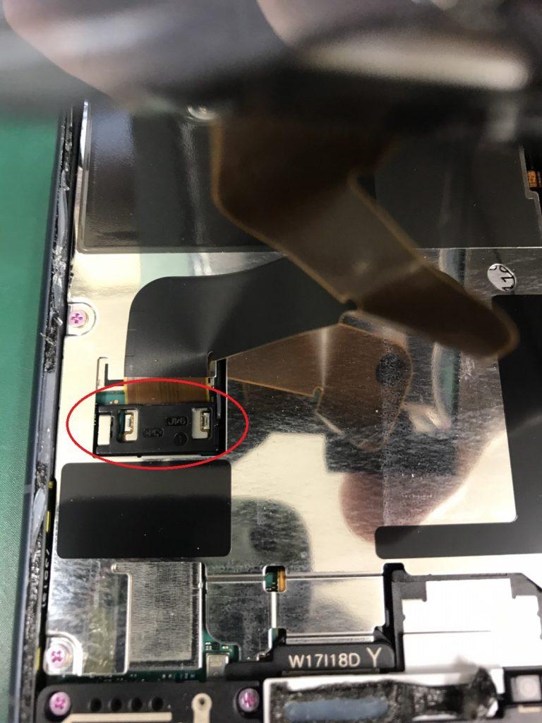 Xperia XZ1画面割れ修理工程4