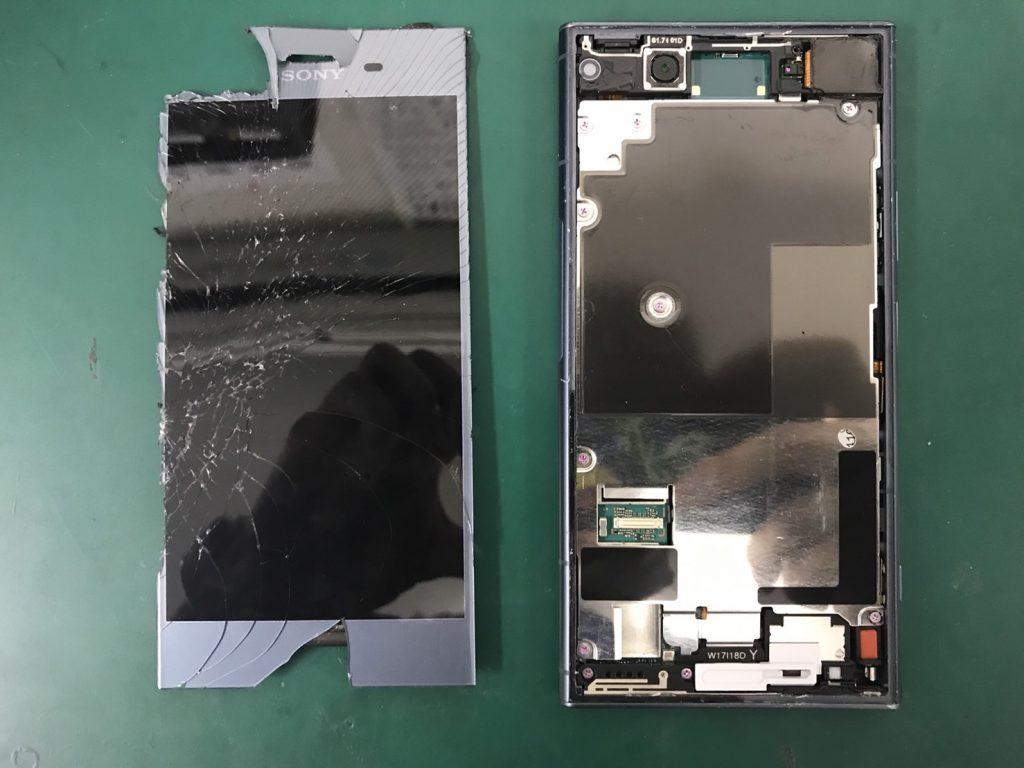 Xperia XZ1画面割れ修理工程7