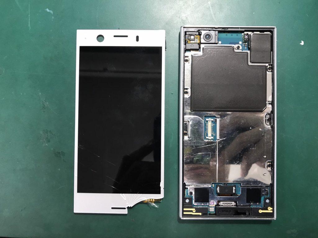 Xperia XZ1 Compact画面割れ修理⑦