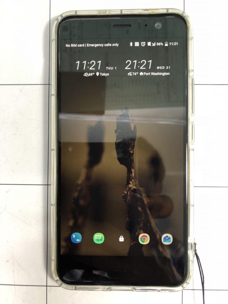 HTC U11画面割れ修理⑩