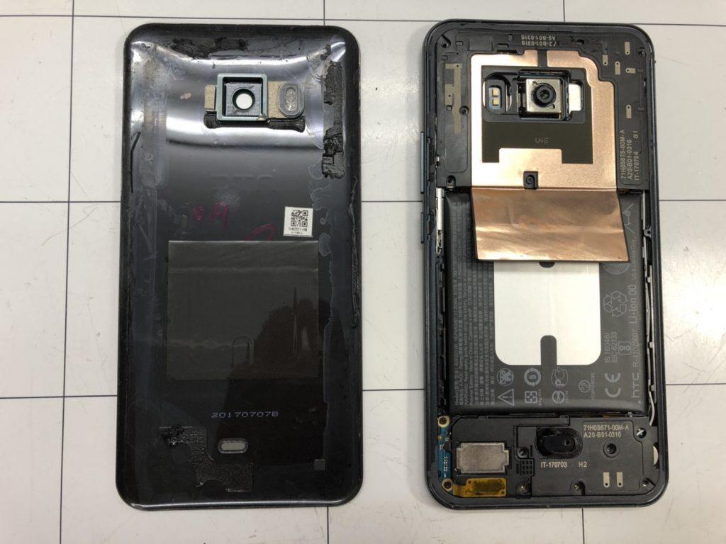 HTC U11画面割れ修理③