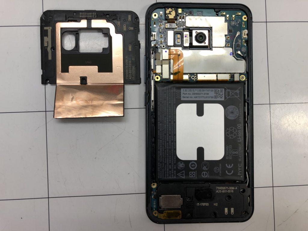 HTC U11画面割れ修理④