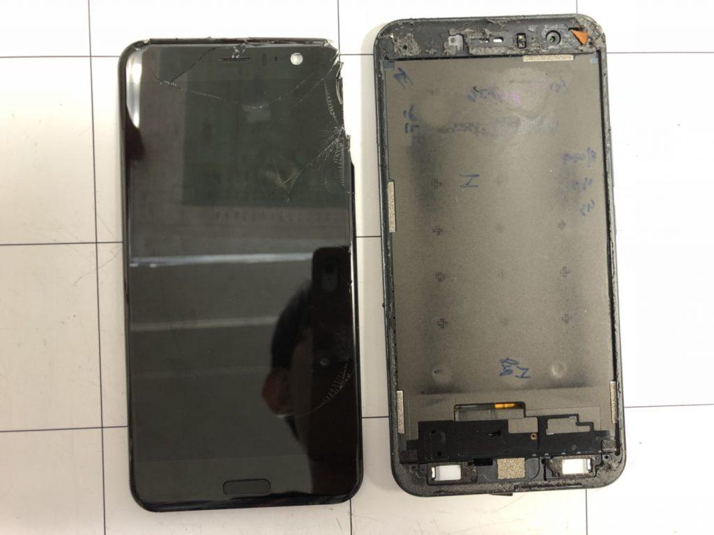 HTC U11画面割れ修理⑨